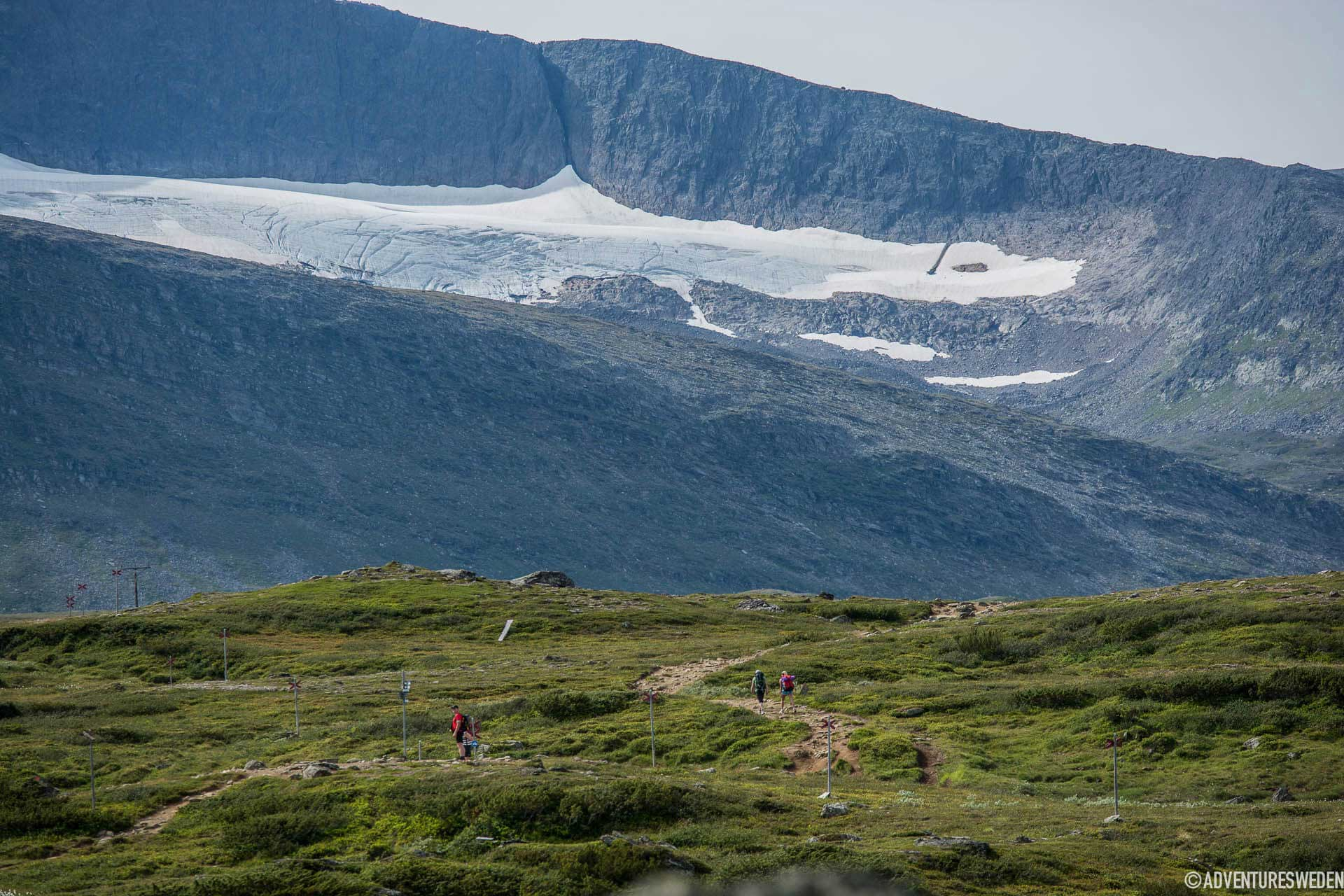 Helags glacier south of the Arctic Circle