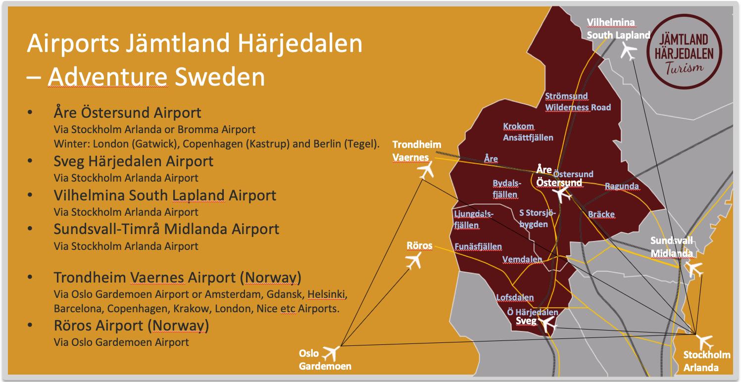 Airports Jämtland Härjedalen Flygplatser