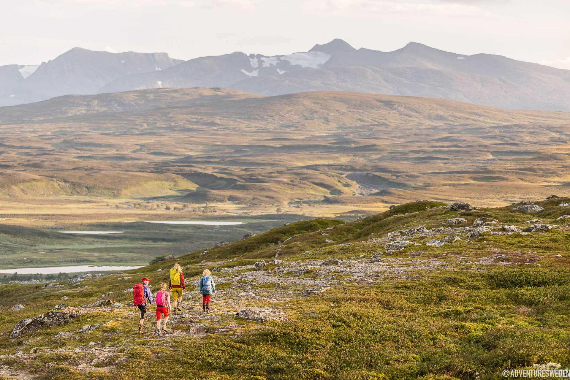Vandrare vid Jämtlandstriangeln | Foto: Niclas Vestefjell