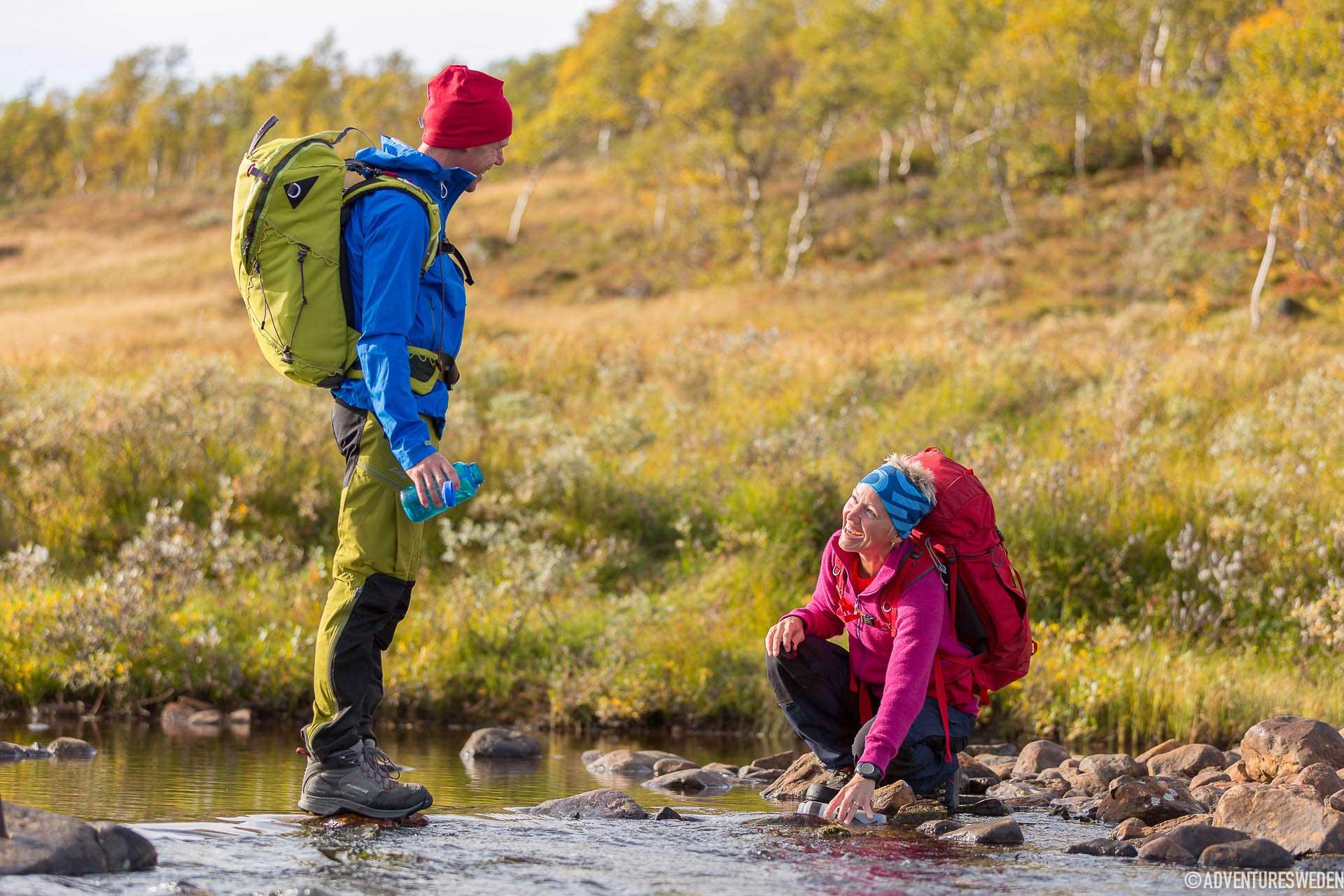Vattenpaus under vandring vid Jämtlandstriangeln | Foto: Niclas Vestefjell