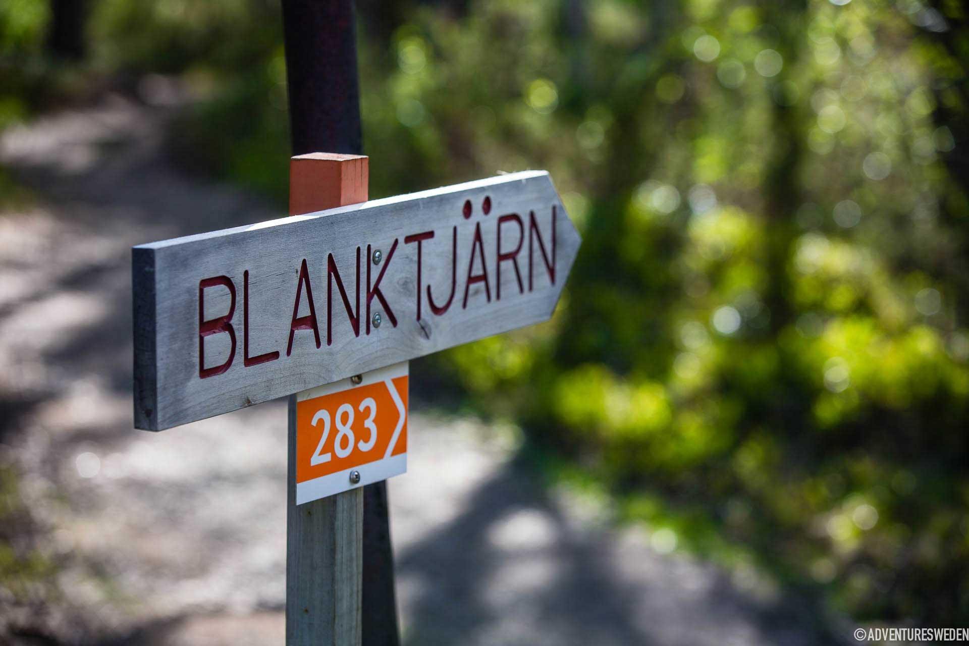 Ledskylt för löpning vid Blanktjärn, Vålådalen | Foto: Anette Andersson