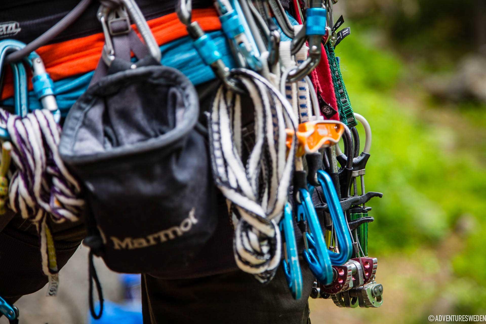 Utrustning för klättring, Stugun | Foto: Anette Andersson
