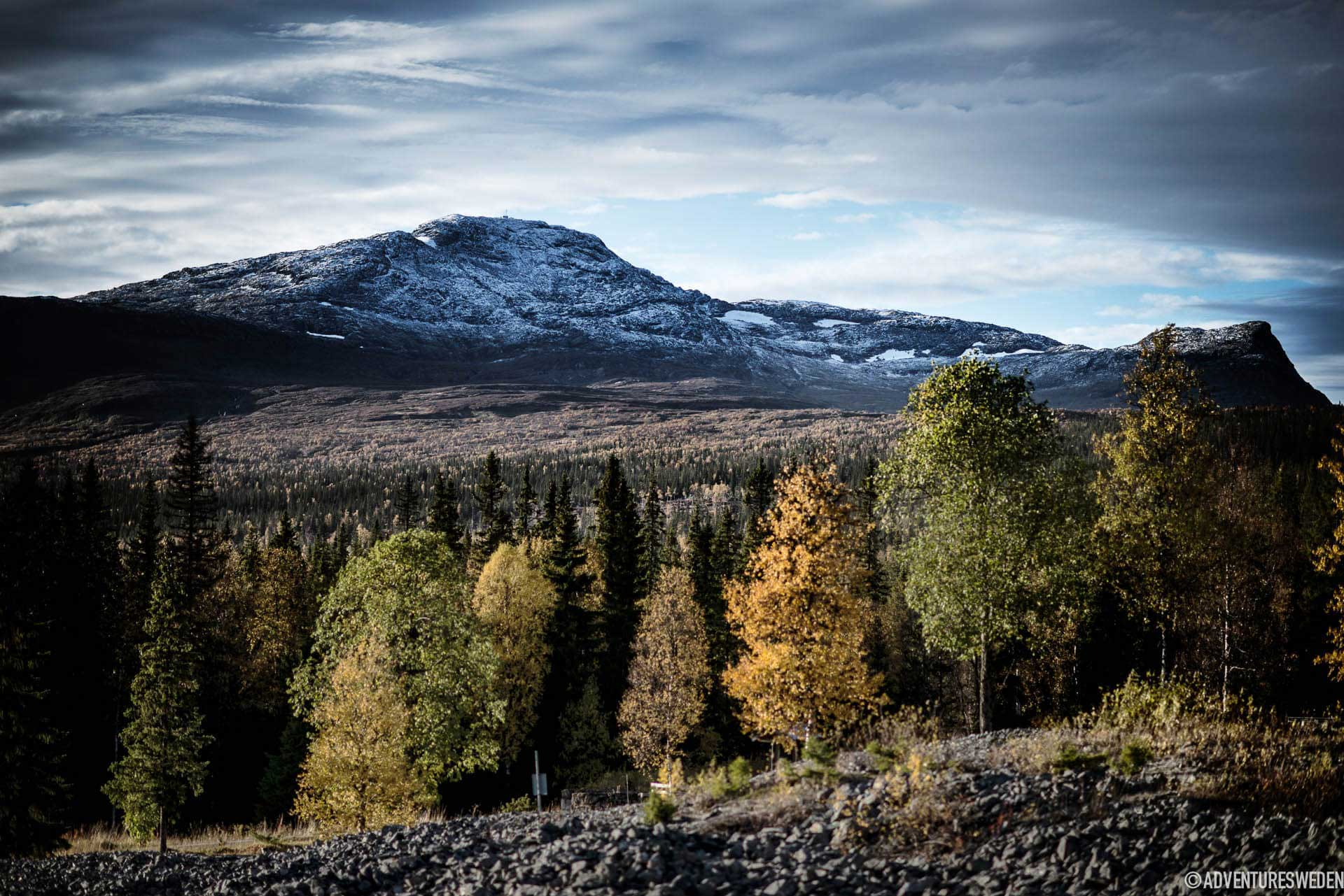 Vy över Åreskutan, Fröå Gruva, Åre | Foto: Sandra Lee Pettersson