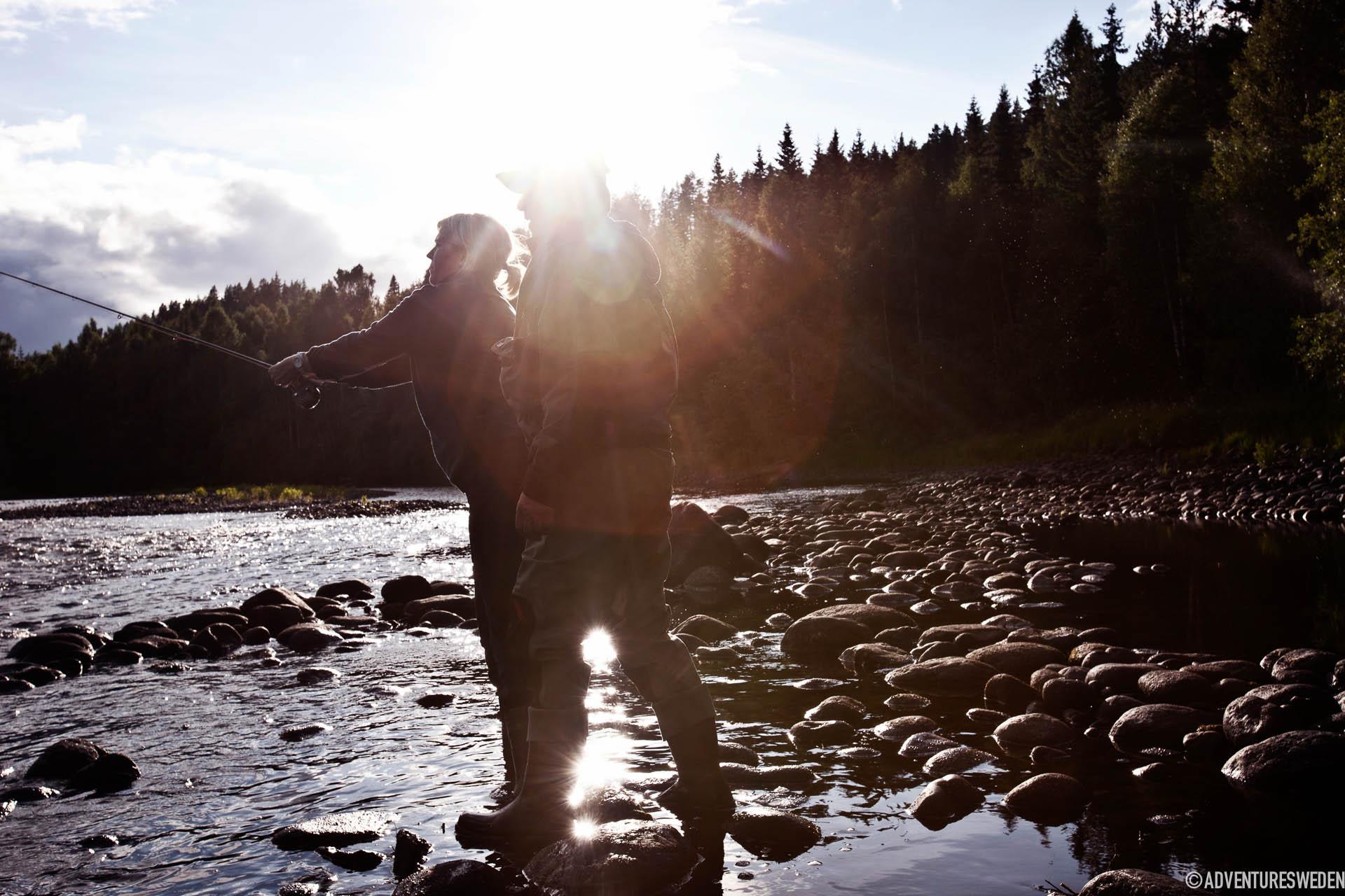 Öringfiske vid Ammerån | Foto: Tina Stafrén