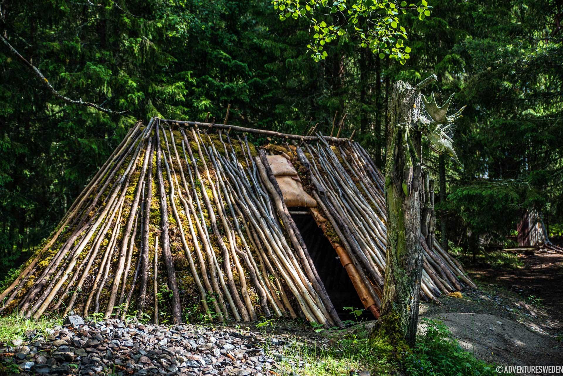 Forntida vinterhydda i Glösa | Foto: Erika Willners