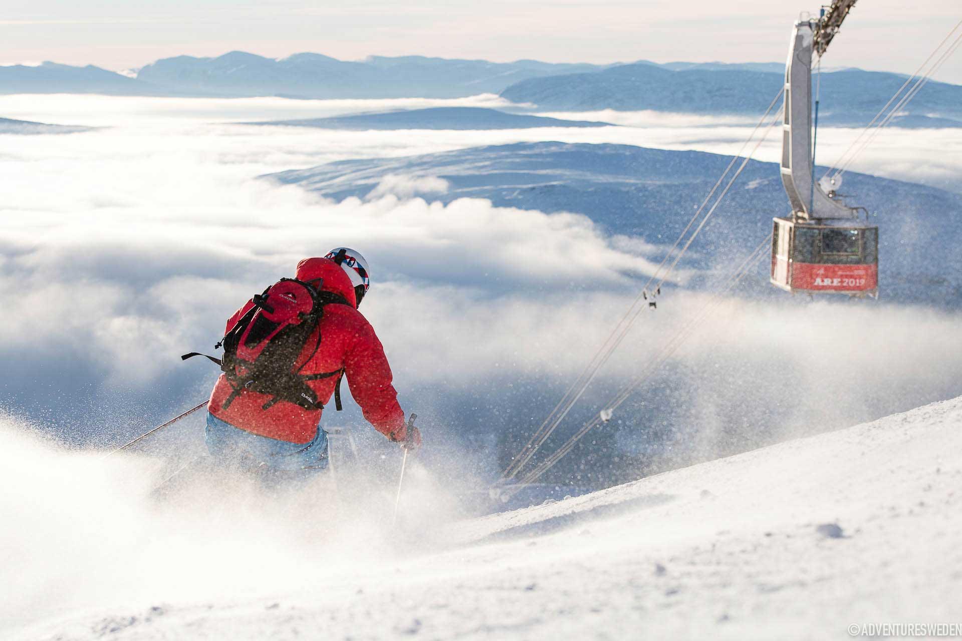Skidåkare i Åre | Foto: Niclas Vestefjell