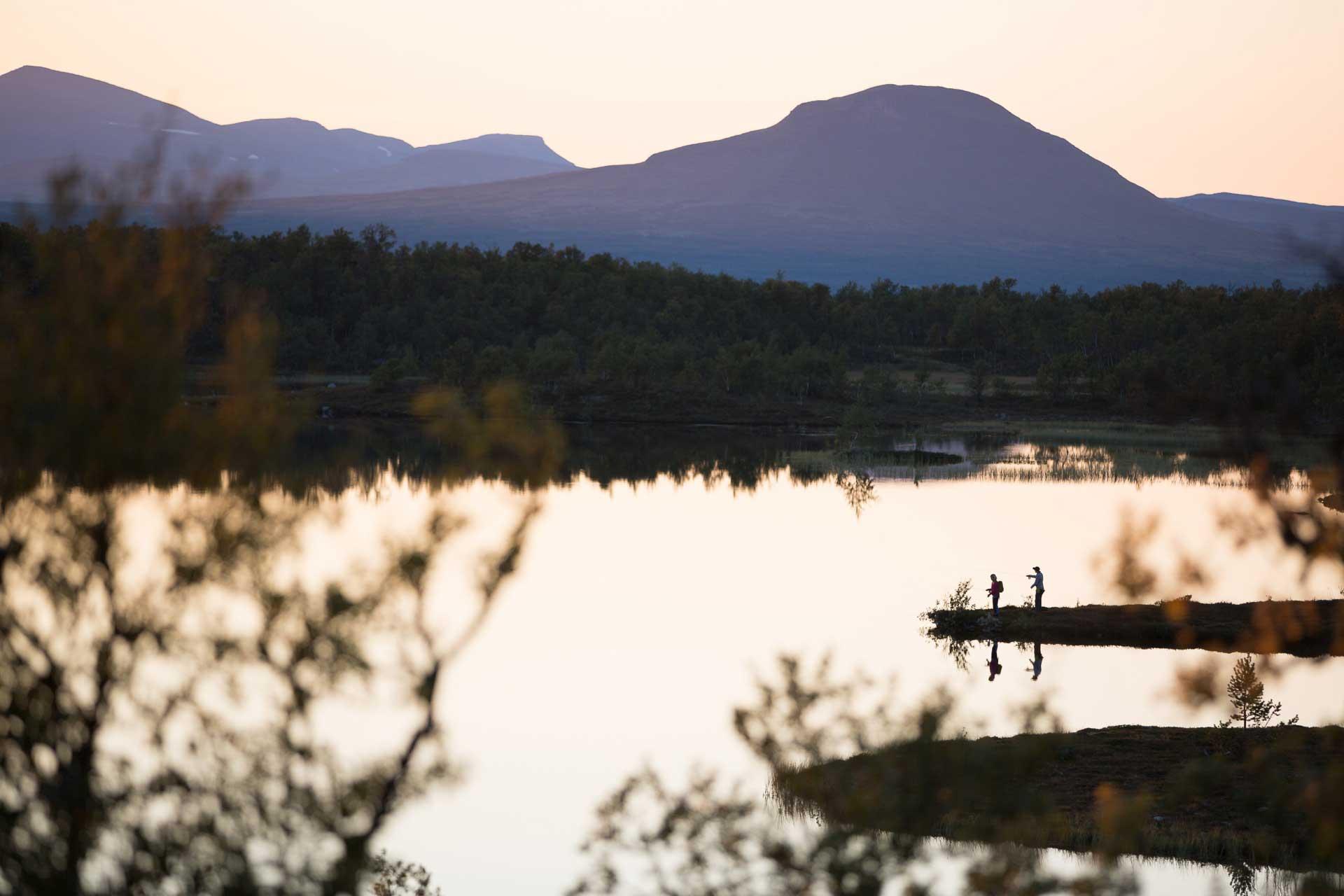 solnedgång fjäll niclas vestefjell