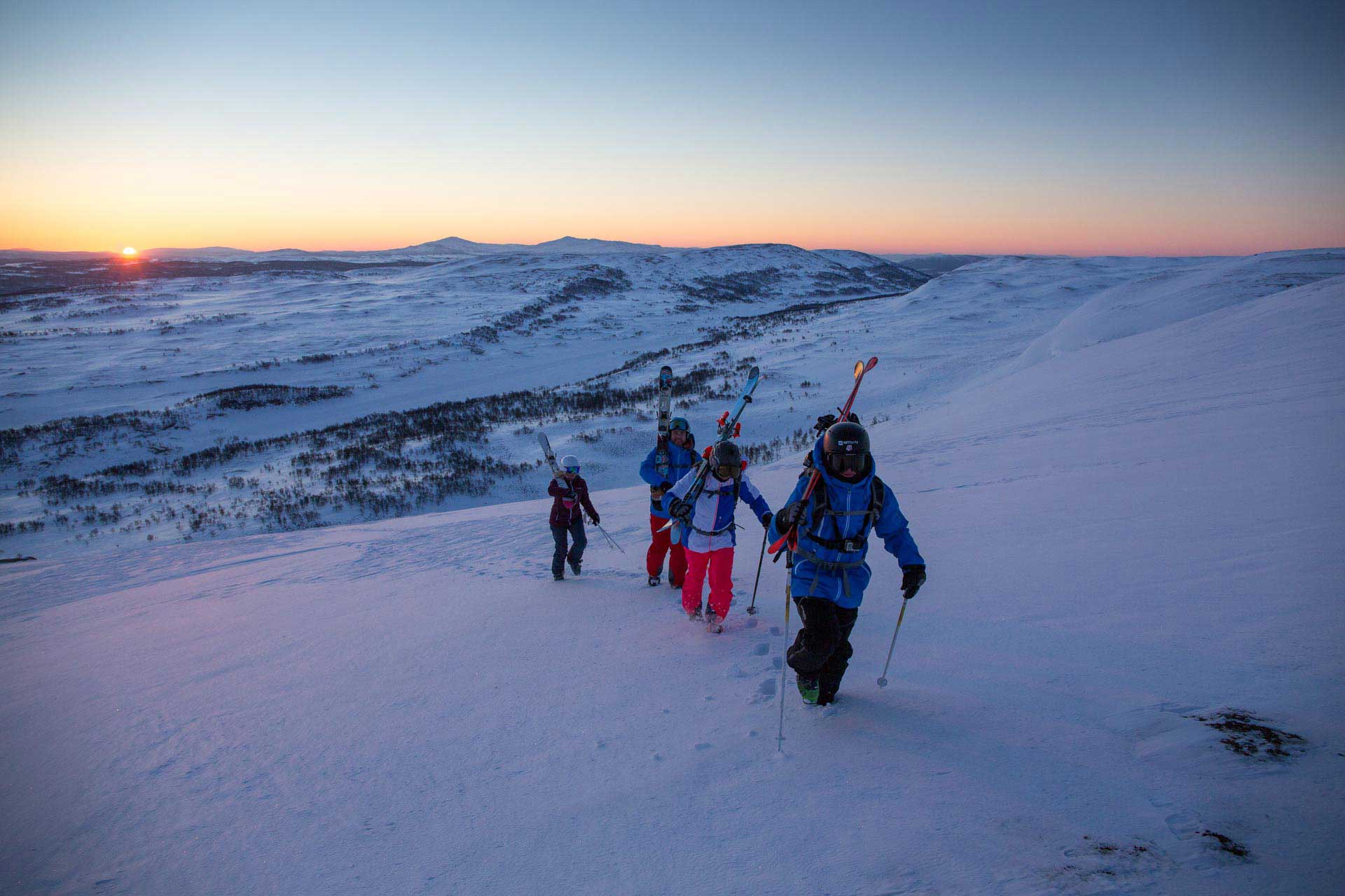 Skiing in Sweden | Photo: Mark Going, Columbia Sportswear