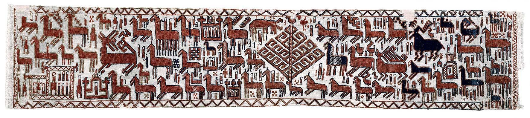 Överhogdalsbonaderna, Viking Tapestry, dating back over 1,000 years. Photo: Jamtli