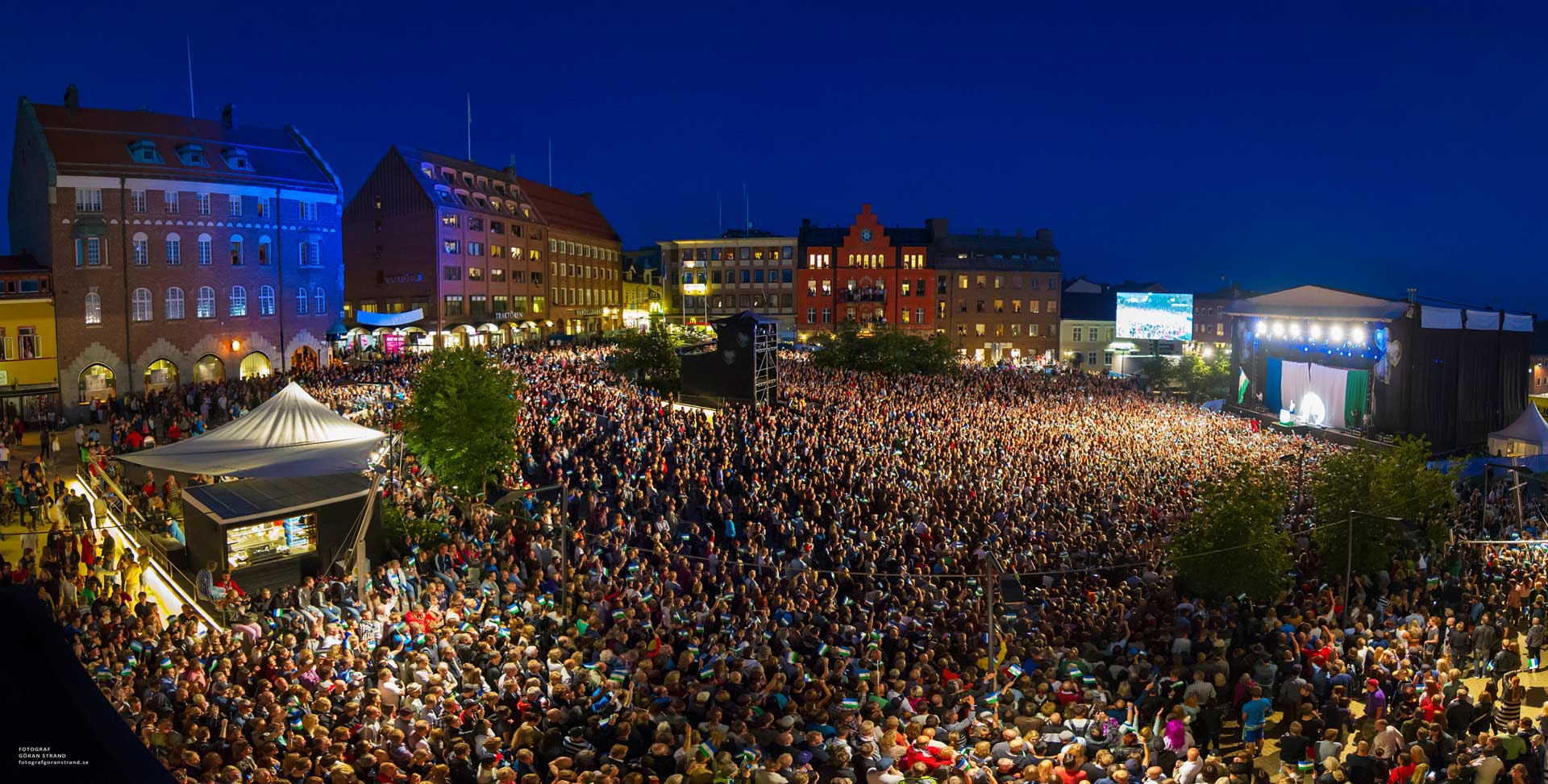 Storsjöyran, Sweden´s oldest city music festival. Photo: Göran Strand