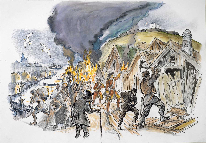 Hus bränns ned Alf Lannerbäck