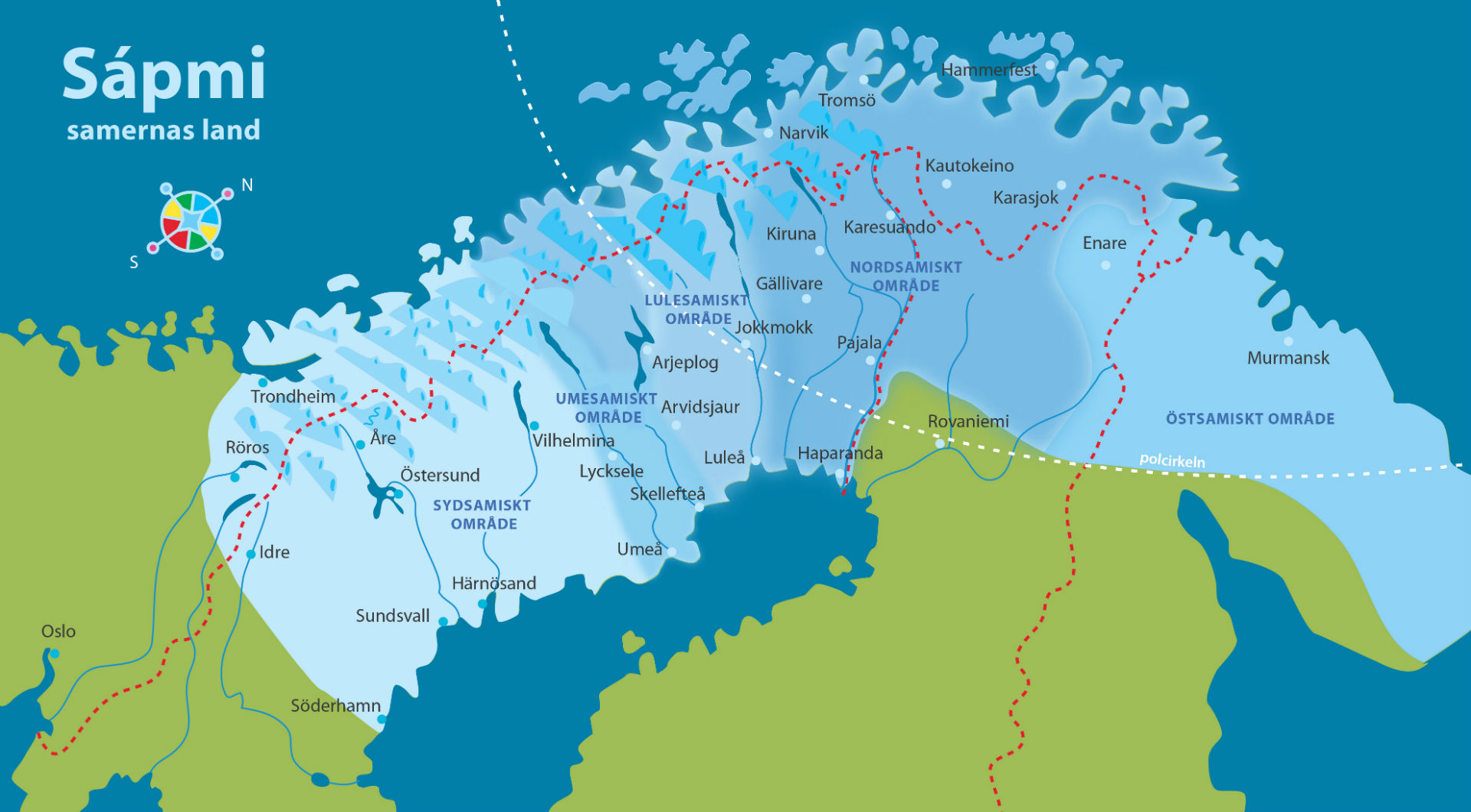 Map of Saepmie Sapmi