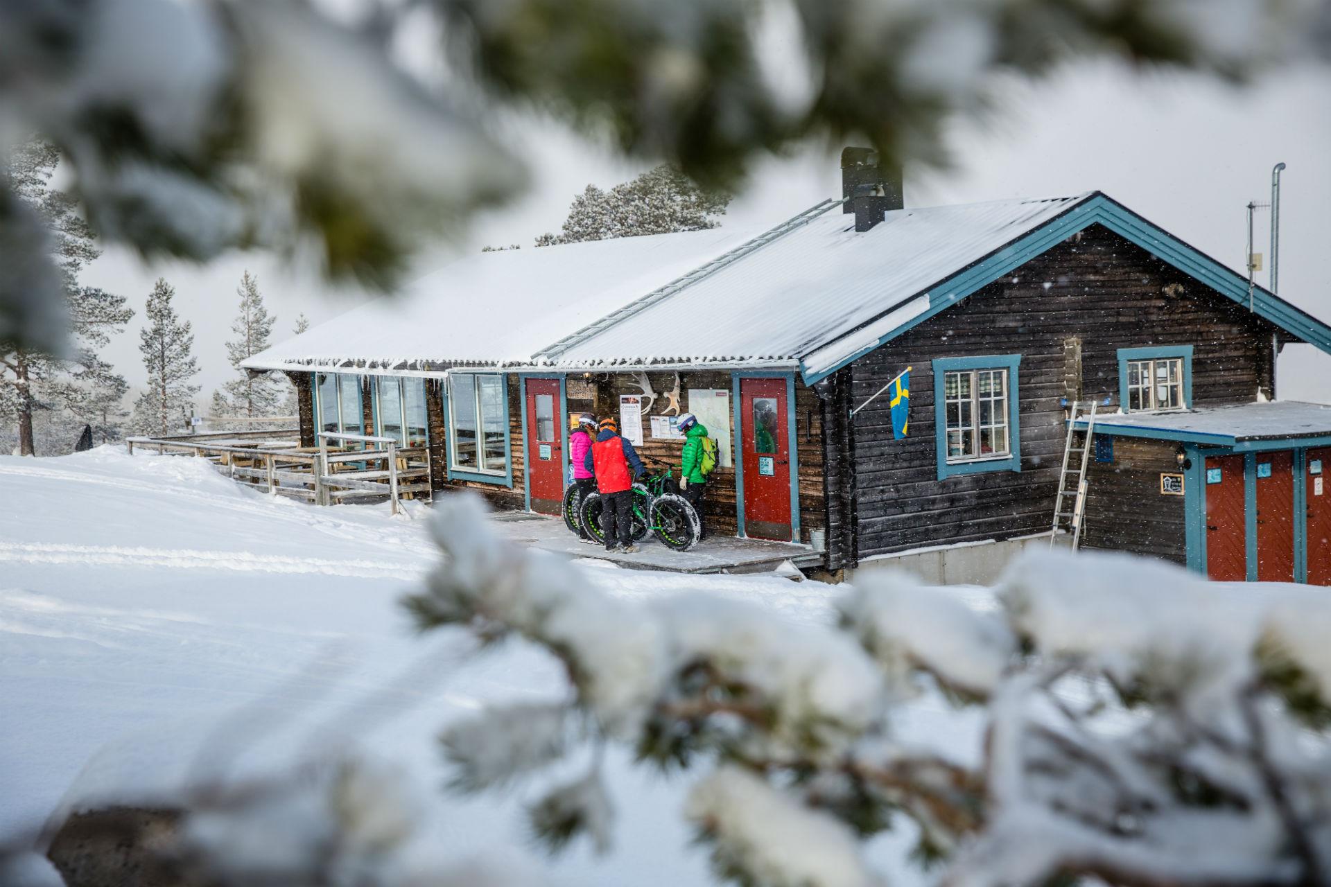 The waffle hut in Lofsdalen