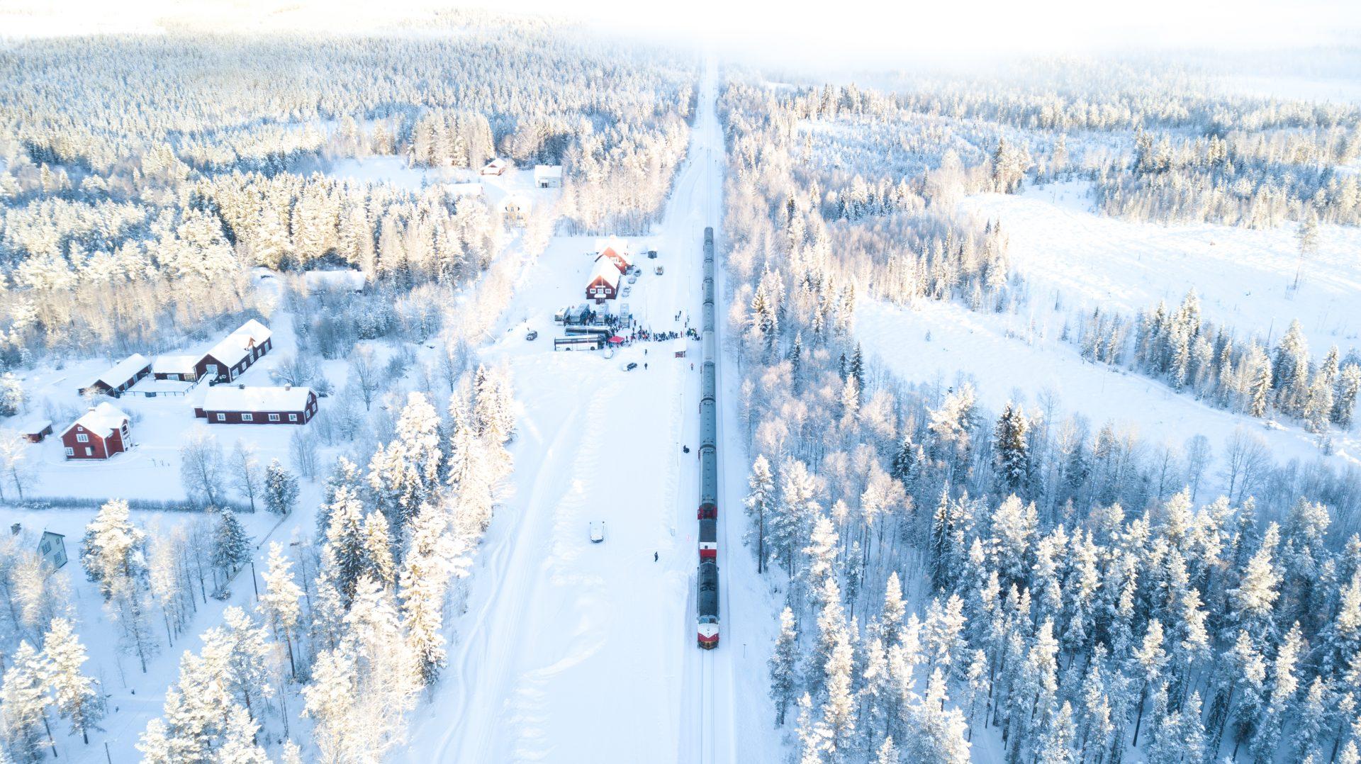 Tåg vinter Vemdalen Röjan