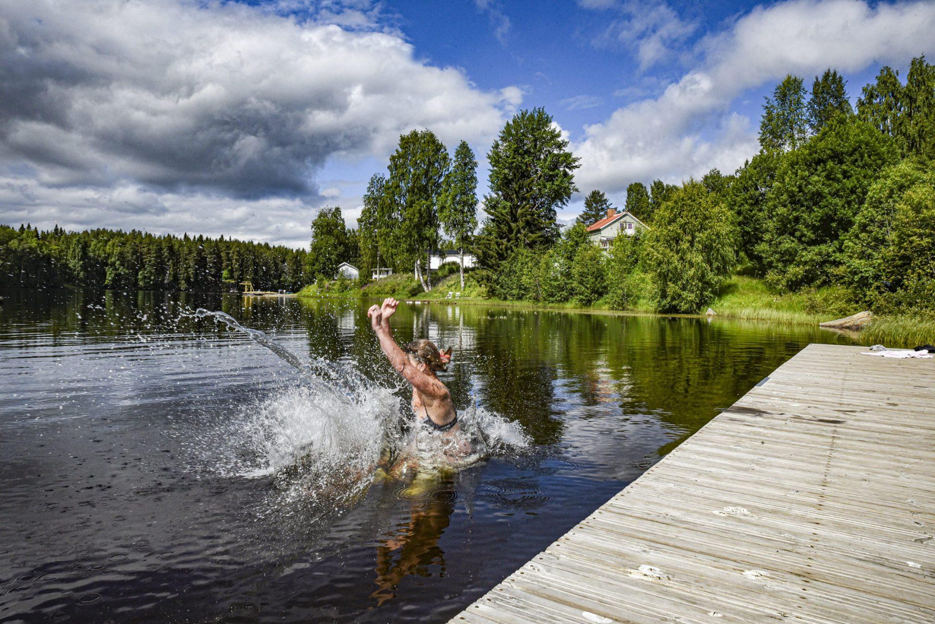 jetty lake swim Lena Hedman