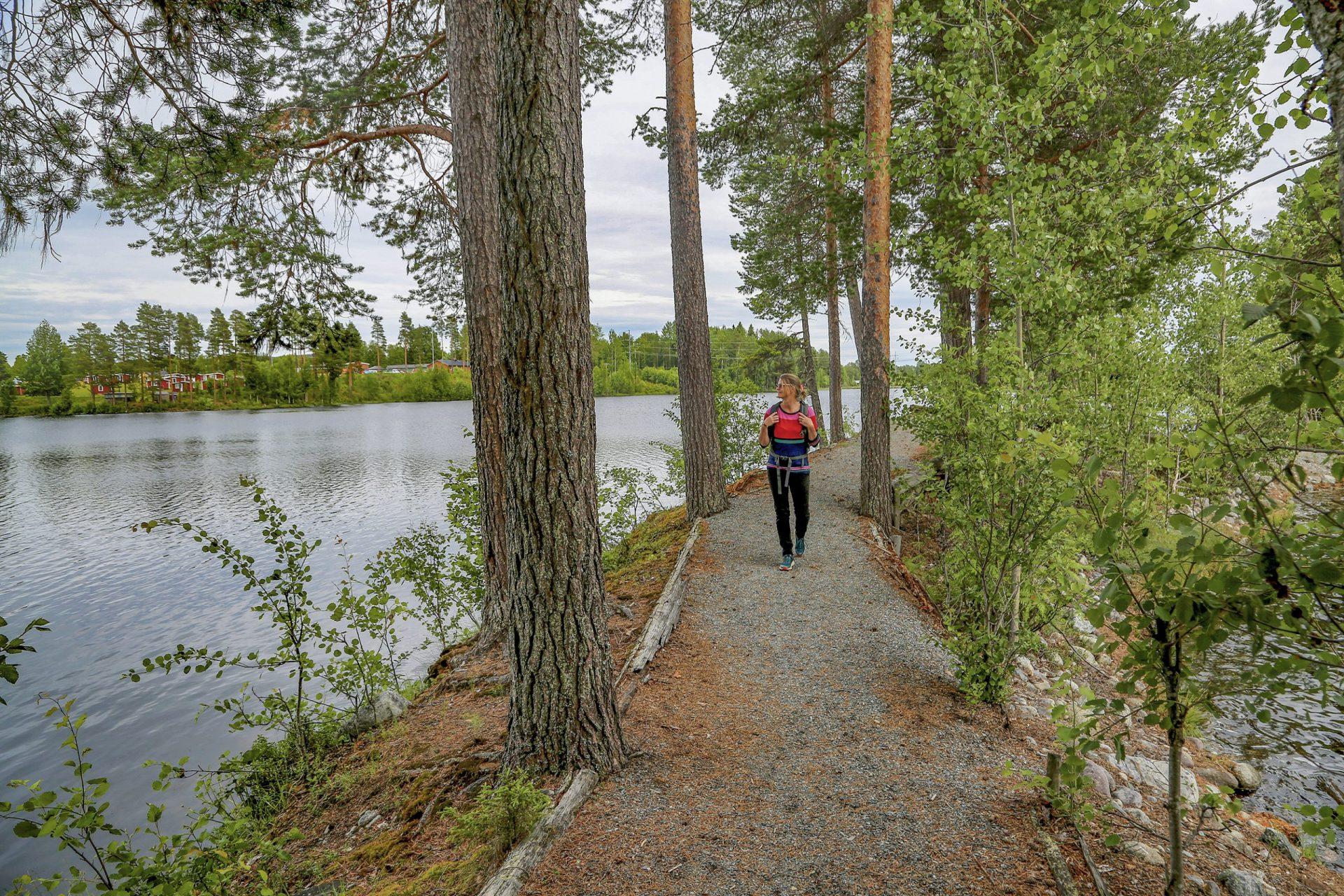 Naturstig Hoting camping Lena Hedman