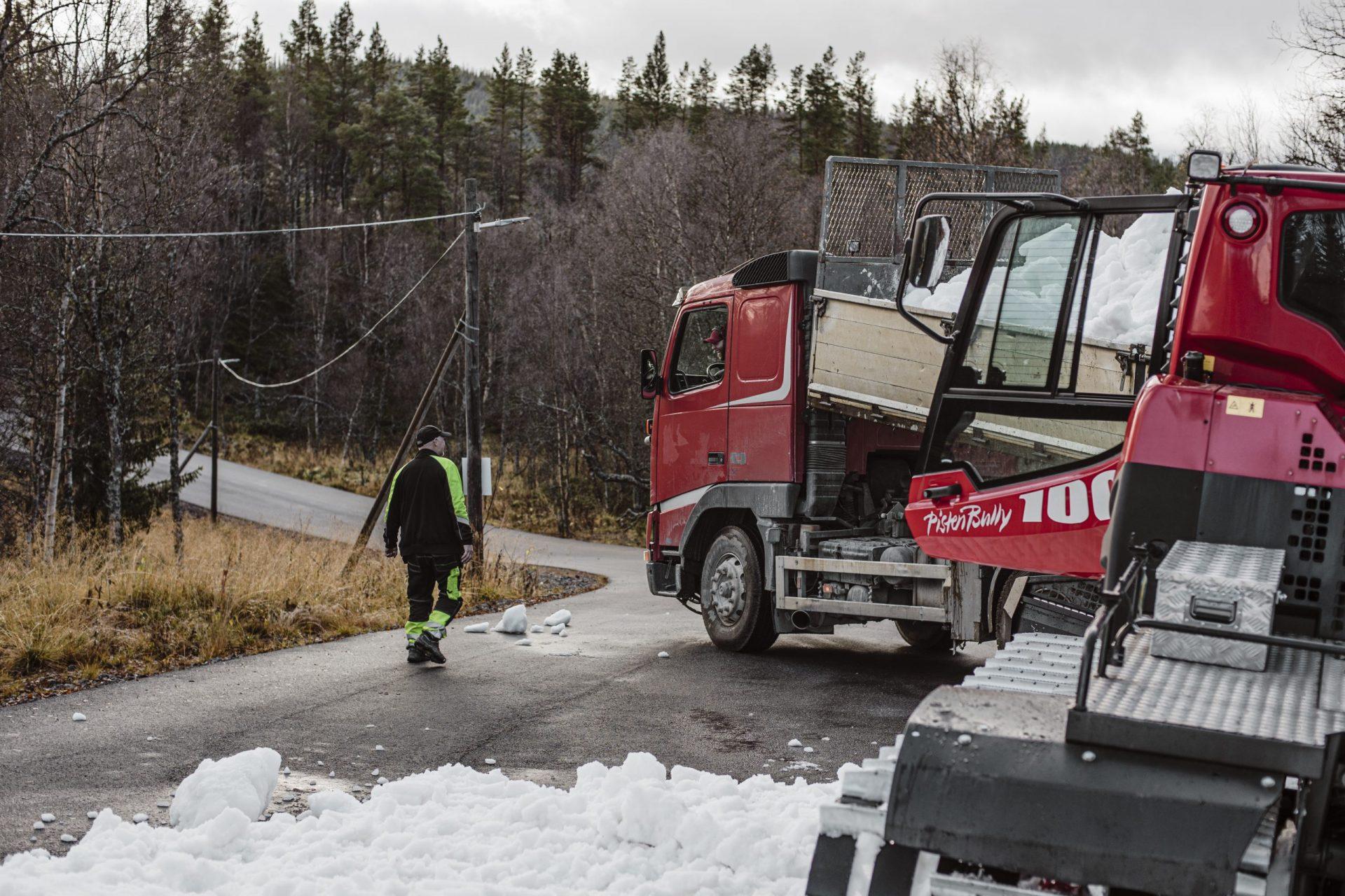Utläggning snö Vålådalen Mats Lind