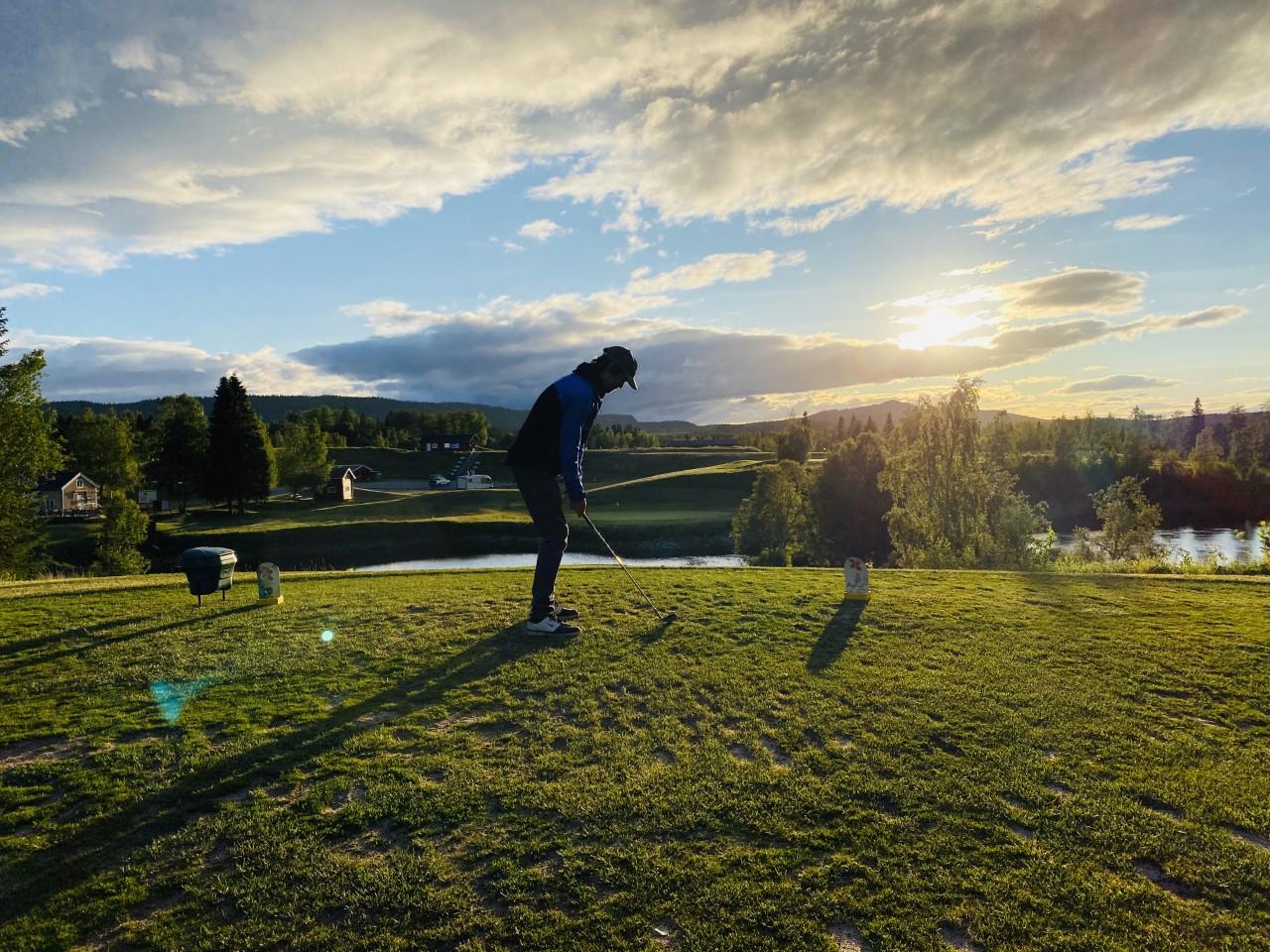 Sommarkväll Åre golfbana Maria Wilhelmsson